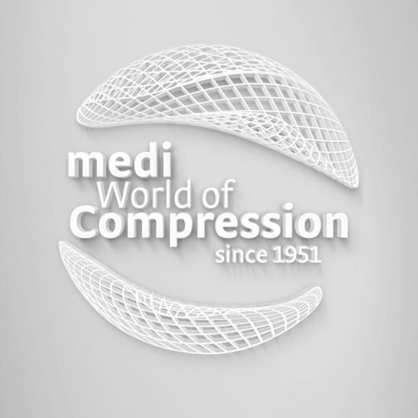 kompression logo hintergrund quadrat