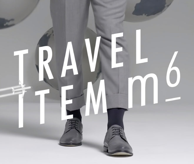legs of a man wearing ITEM m6 travel socks
