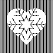 A heart for the winter! Warming ITEM m6 fashion companions complete your cool outfit.