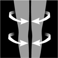 Das Beispielbild demonstriert den Druckverlauf der ITEM m6 Legwear.