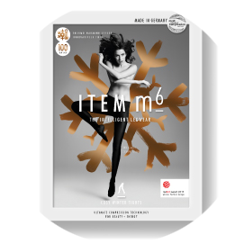 The stylish packaging of the ITEM m6 Cosy Tights.