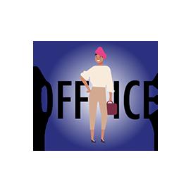 Zeichnung einer jungen Frau im Business Outfit